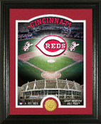 "Cincinnati Reds ""Stadium"" Bronze Coin Photo Mint"