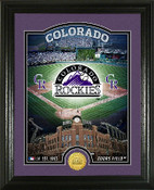 "Colorado Rockies ""Stadium"" Bronze Coin Photo Mint"