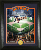 "Detroit Tigers ""Stadium"" Bronze Coin Photo Mint"