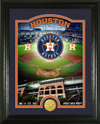 "Houston Astros ""Stadium"" Bronze Coin Photo Mint"