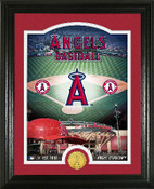 "Los Angeles Angels ""Stadium"" Bronze Coin Photo Mint"
