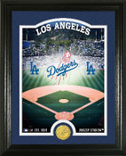 "Los Angeles Dodgers ""Stadium"" Bronze Coin Photo Mint"