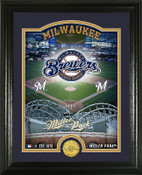 "Milwaukee Brewers ""Stadium"" Bronze Coin Photo Mint"