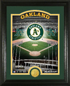 "Oakland A's ""Stadium"" Bronze Coin Photo Mint"