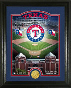 "Texas Rangers ""Stadium"" Bronze Coin Photo Mint"
