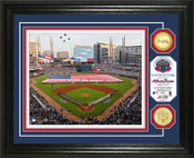 "Atlanta Braves ""Suntrust Park"" Inaugural Game Bronze Coin Photo Mint"