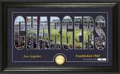 "Los Angeles Chargers ""Silhouette"" Panoramic Bronze Coin Photo Mint"