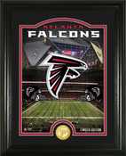 "Atlanta Falcons ""Stadium"" Bronze Coin Photo Mint"