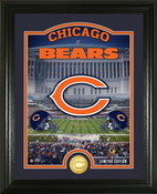 "Chicago Bears ""Stadium"" Bronze Coin Photo Mint"