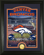 "Denver Broncos ""Stadium"" Bronze Coin Photo Mint"