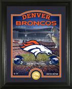 "Denver Broncos ""Stadium"" Bronze Coin Photo Mint"