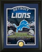 """Detroit Lions """"Stadium"""" Bronze Coin Photo Mint"""