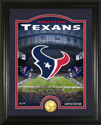 "Houston Texans ""Stadium"" Bronze Coin Photo Mint"