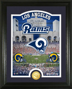 "Los Angeles Rams ""Stadium"" Bronze Coin Photo Mint"