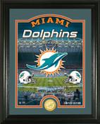"Miami Dolphins ""Stadium"" Bronze Coin Photo Mint"