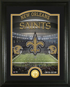 "New Orleans Saints ""Stadium"" Bronze Coin Photo Mint"