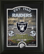 "Oakland Raiders ""Stadium"" Silver Coin Photo Mint"