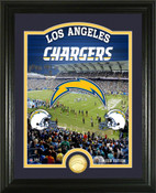 "Los Angeles Chargers ""Stadium"" Bronze Coin Photo Mint"
