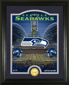 "Seattle Seahawks ""Stadium"" Bronze Coin Photo Mint"