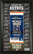 Houston Astros 2017 AL Champions Signature Ticket