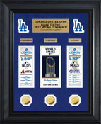 """Los Angeles Dodgers 2017 NL Champions """"Road to the World Series"""" Deluxe Gold Coin Photo Mint"""