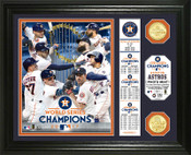 "Houston Astros 2017 World Series Champions ""Banner"" Bronze Coin Photo Mint"