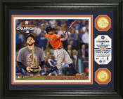 "Houston Astros 2017 World Series ""MVP"" Bronze Coin Photo Mint"