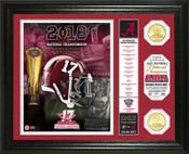 "Alabama Crimson Tide 2018 Football National Champions ""Banner"" Bronze Coin Photo Mint"