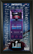 New England Patriots Super Bowl 52 Signature Ticket