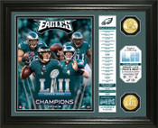 Philadelphia Eagles Super Bowl 52 Champions Banner Bronze Coin Photo Mint