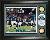 Philadelphia Eagles Super Bowl 52 MVP Bronze Coin Photo Mint