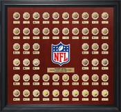 Super Bowl 52 Gold Flip Coin Collection Frame