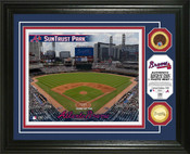 Atlanta Braves - SunTrust Park Dirt Coin Photo Mint