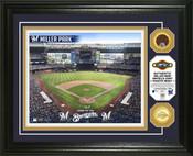 Milwaukee Brewers - Miller Park Dirt Coin Photo Mint