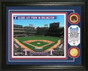 Texas Rangers - Globe Life Field Dirt Coin Photo Mint