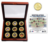 Houston Astros 2017 World Series Champions 9 Coin Set