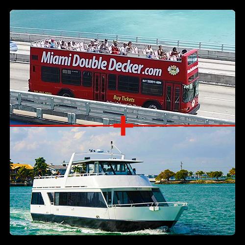 Miami Bus Tour And Miami Boat Tour Combo