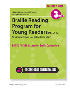 SAL2 Mangold Braille Reading Program for Young Readers Book 3 (EBAE)