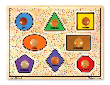 Geometric Shapes Jumbo Knob Puzzle
