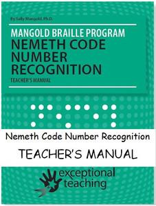 Mangold Nemeth Code Number Recognition Teacher''s Manual