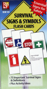 Survival Signs and Symbols Flash Cards