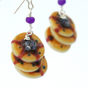 blueberry pancakes earrings