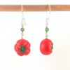 heirloom tomato earrings by inedible jewelry