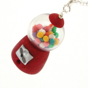 gumball machine necklace by inedible jewelry