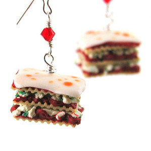 lasagna earrings by inedible jewelry