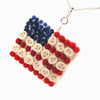 flag cake necklace by inedible jewelry