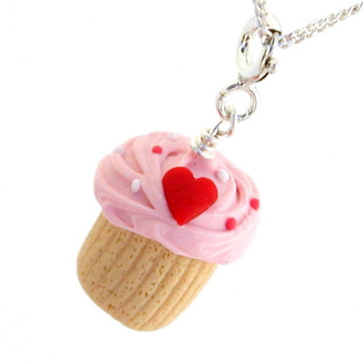 heart cupcake necklace by inedible jewelry