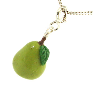 pear necklace by inedible jewelry