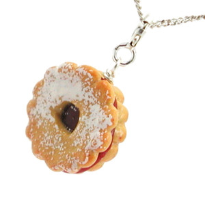 linzer tart necklace by inedible jewelry