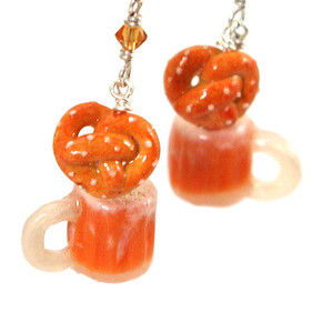 Oktoberfest earrings by inedible jewelry